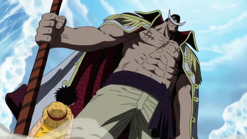 Whitebeard with Luffy